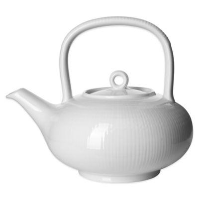 Rörstrand Swedish Grace Teapot in Snow
