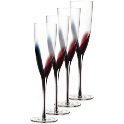 Mikasa® Kya Champagne Flutes (Set of 4)