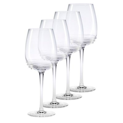 Clear Swirl Goblets