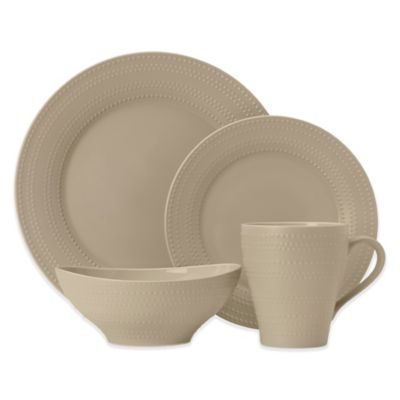 Mikasa® Ryder 4-Piece Dinnerware Set in Beige