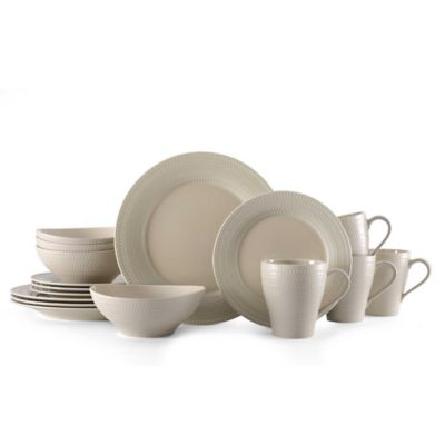 Mikasa® Ryder 16-Piece Dinnerware Set in Beige