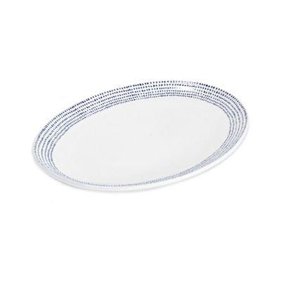 Mikasa Blue Oval Platter