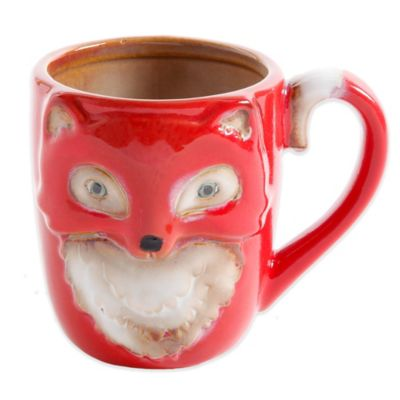 Figural Fox Mug Coffee Mugs