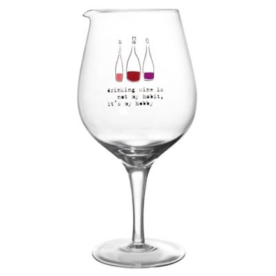 """Drinking Wine is My Hobby"" Wine Carafe"