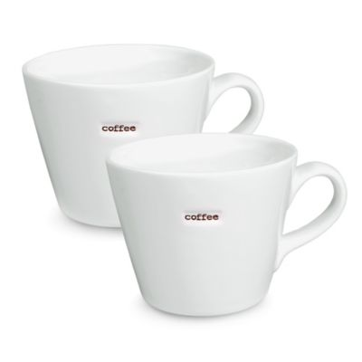 "Keith Brymer Jones Word Range ""Coffee"" Mug (Set of 2)"