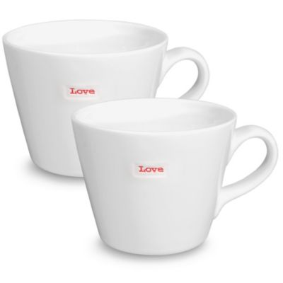 "Keith Brymer Jones Word Range ""Love"" Mug (Set of 2)"