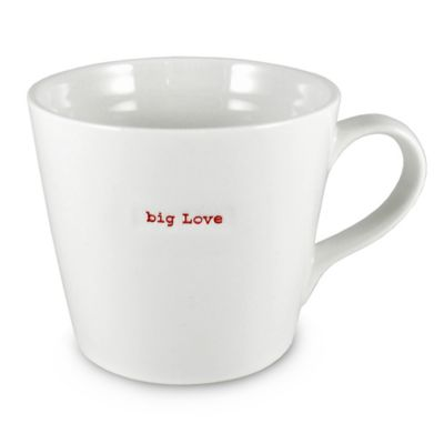 "Keith Brymer Jones Word Range ""big love"" Large Mug"