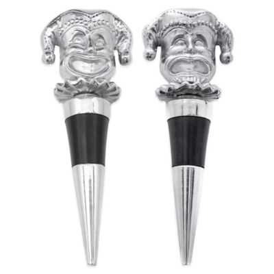 Arthur Court Mardi Gras Bottle Stoppers (Set of 2)