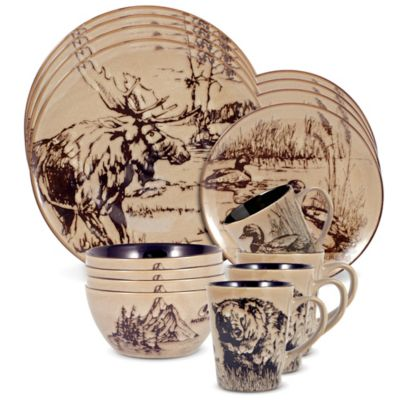 Mossy Oak® Break Up Infinity 16-Piece Dinnerware Set