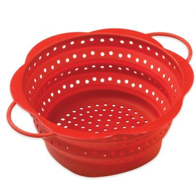 Red Collapsible Colander