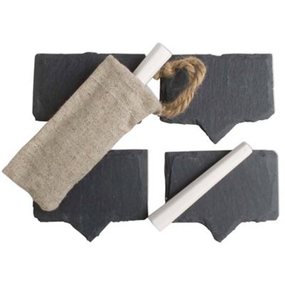 Cheese Marker Set in Slate (Set of 4)