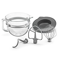 KitchenAid® 6-Quart Glass Bowl with Lid and Mixing Tools