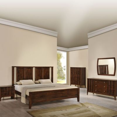 Zuo® Portland Queen Bedroom Set in Walnut