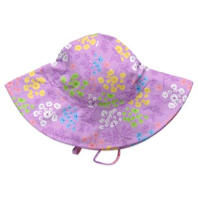 i play.® Size 6-18M Queen Anne's Lace Brim Sun Hat in Lavender