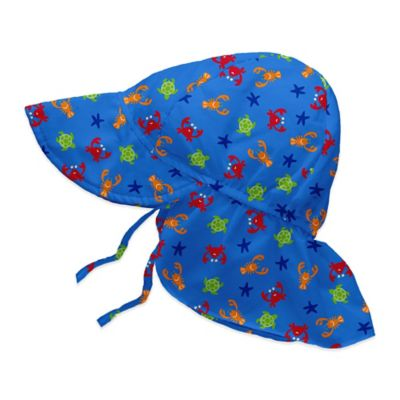 i play.® Size 2-4T Sea Critters Flap Sun Hat in Periwinkle Blue