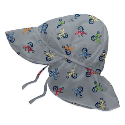 i play.® Size 6-18M Tricycle Flap Sun Hat in Grey