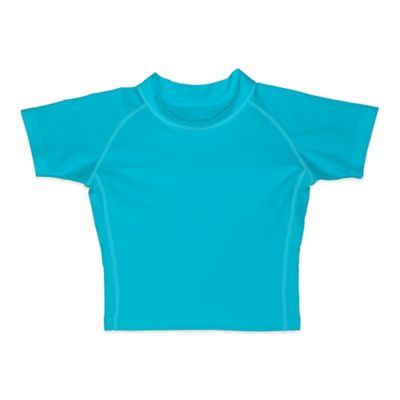 i play.® Size 18M Short Sleeve Rashguard in Aqua
