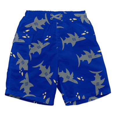 i play.® Size 12-18M Grey Shark Ultimate Swim Diaper Pocket Trunks in Royal Blue