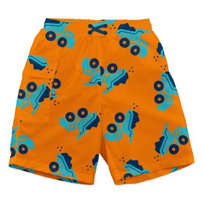 i play.® Size 12-18M Dump Truck Ultimate Swim Diaper Pocket Trunks in Orange