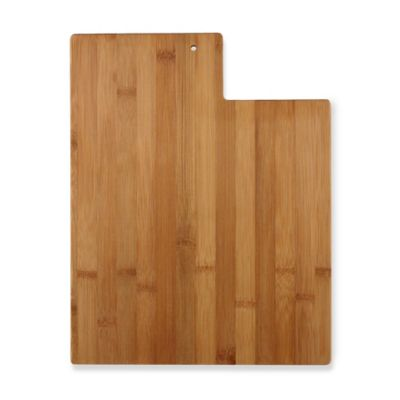 Totally Bamboo Utah State Shaped Cutting/Serving Board