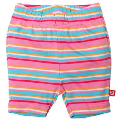 Zutano® Size 6M Multistriped Bike Short in Pink/Blue