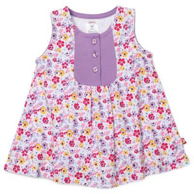 Zutano® Violetta Size 6M Darling Dress in Floral Print/Purple