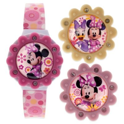 Disney® Minnie Mouse Flip-Top Watch with Interchangeable LCD Tops