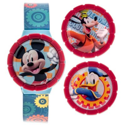 Disney® Mickey Mouse Flip-Top Watch with Interchangeable LCD Tops