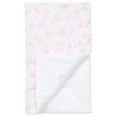 Little Me® Floral Blanket in Pink/White