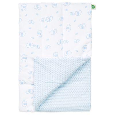 Little Me® Cute Elephants Reversible Puff Blanket in White/Light Blue