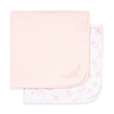 Little Me® 2-Pack Sweet Receiving Blanket in Pink/Floral