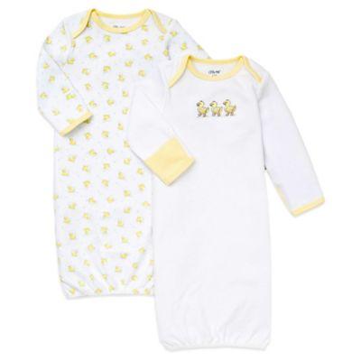 Little Me® Size 0-3M 2-Pack Cute Ducks Gowns