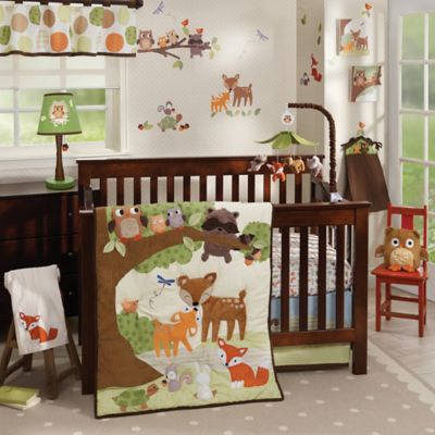 Lambs & Ivy® Woodland Tales 4-Piece Crib Bedding Set