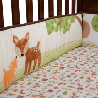 Lambs & Ivy® Woodland Tales 4-Piece Crib Bumper