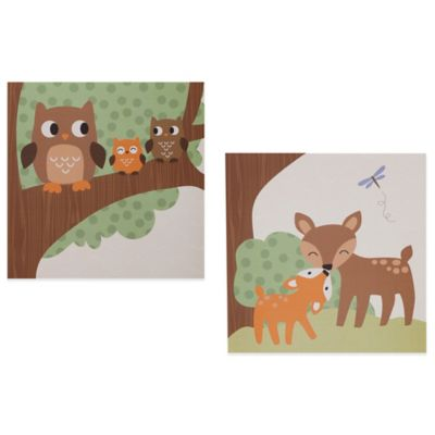 Lambs & Ivy® Woodland Tales Canvas Wall Art (Set of 2)