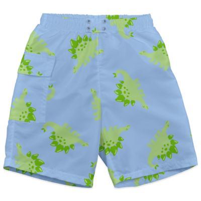 i play.® Size 18-24M Stegosaurus Ultimate Swim Diaper Pocket Trunks in Light Blue