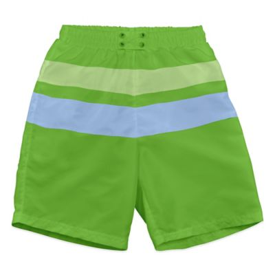 i play.® Size 12-18M Ultimate Swim Diaper Block Board Short in Lime/Blue