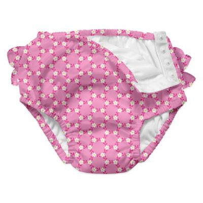 i play.® Size 12-18M Daisy Chain Ultimate Ruffle Swim Diaper in Light Pink