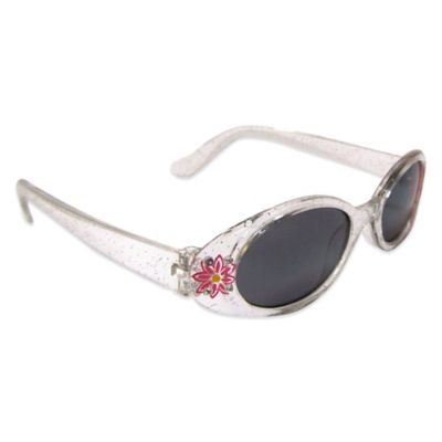 On The Verge Kids' Retro Sunglasses in Clear/Red Flower