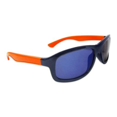 On The Verge Kids' Square Sport Sunglasses in Navy/Orange