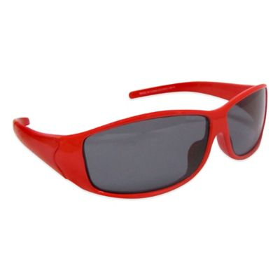 On The Verge Kids' Sporty Sunglasses in Red