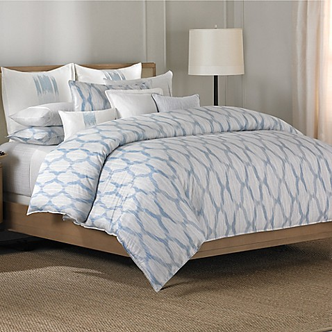 Barbara Barry 174 Alpen Duvet Cover In Delft Bed Bath Amp Beyond