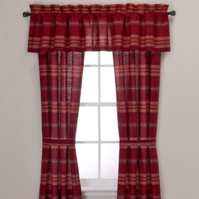 Tommy Bahama® Vera Cruz Window Valance in Maroon