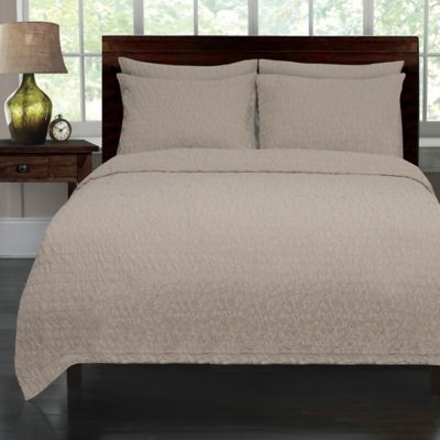 Lamont Home Seersucker Full/Queen Coverlet in Taupe