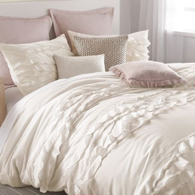 DKNY Flirt Twin Duvet Cover in Off-White