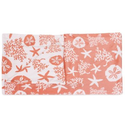 Tamarindo Reversible Throw in Coral