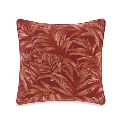 Tommy Bahama® Vera Cruz Floral Square Throw Pillow in Maroon