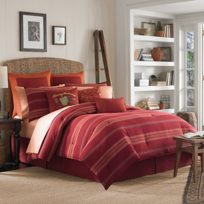 Tommy Bahama® Vera Cruz Reversible Duvet Cover Set in Maroon