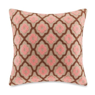 Echo Design™ Aberdeen Square Throw Pillow in Pink
