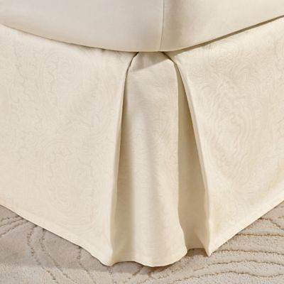 Crowning Touch Cotton Naturals 100% Cotton Jacquard Full Bed Skirt